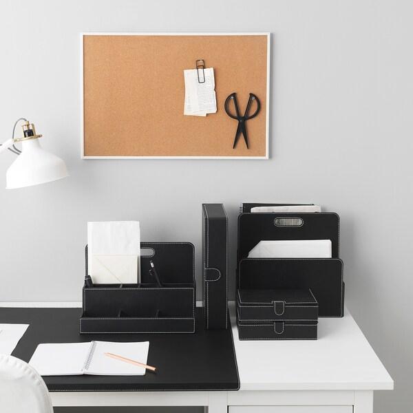 RISSLA Protector de escritorio, negro