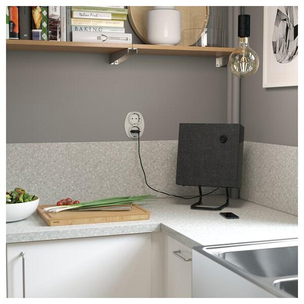 SÄLJAN Mesado a medida, gris claro acabado mineral/laminado, 45.1-63.5x3.8 cm