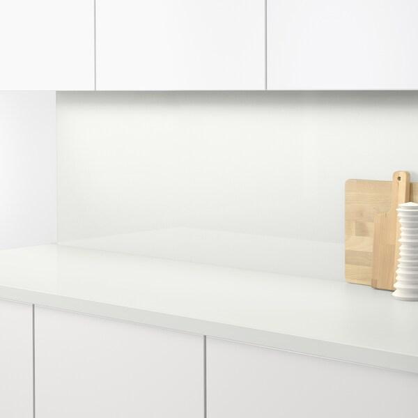 SIBBARP Panel de parede, alto brillo branco/laminado, 1 m²x1.3 cm