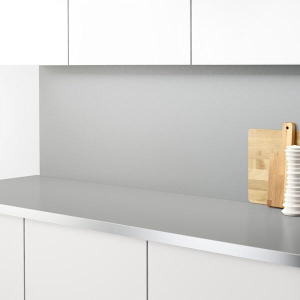 SIBBARP Panel de parede, efecto aluminio laminado, 1 m²x1.3 cm