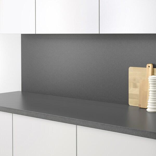 SIBBARP Panel de parede, negro efecto pedra/laminado, 1 m²x1.3 cm