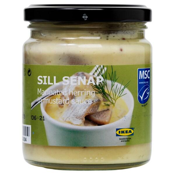 SILL SENAP Arenque mariñado á mostaza, 250 g