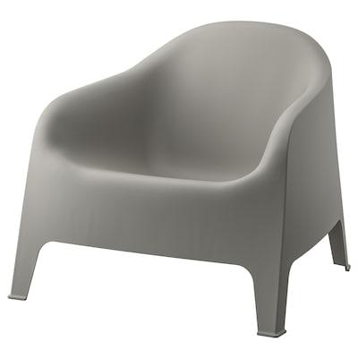 SKARPÖ Cadeira de brazos de xardín, gris