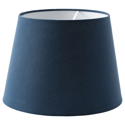 SKOTTORP Pantalla para lámpada, azul escuro, 33 cm