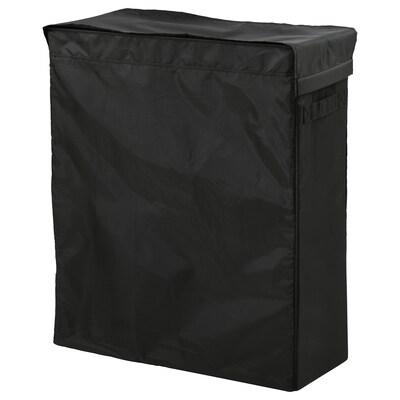 SKUBB Bolsa de roupa c/soporte, negro, 80 l