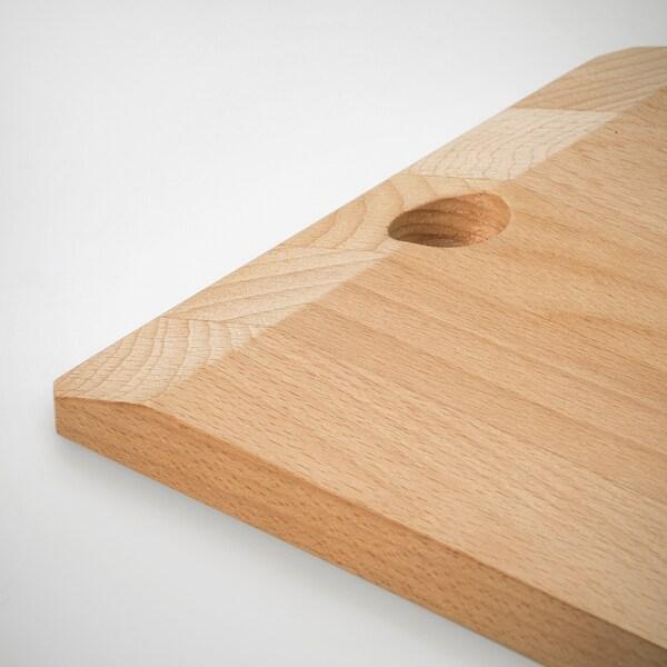 SMASKIGA Táboa de cortar, faia, 28x18 cm