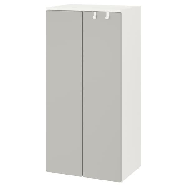 SMÅSTAD Armario, branco/gris, 60x42x123 cm