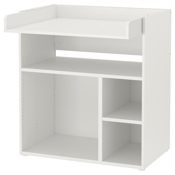SMÅSTAD Cambiador/escritorio, branco