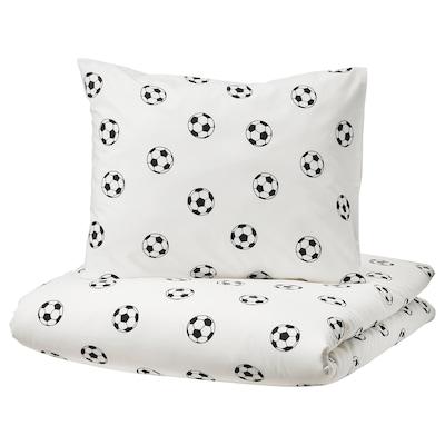 SPORTSLIG Funda nórd e funda para almofada, motivo balón de fútbol, 150x200/50x60 cm