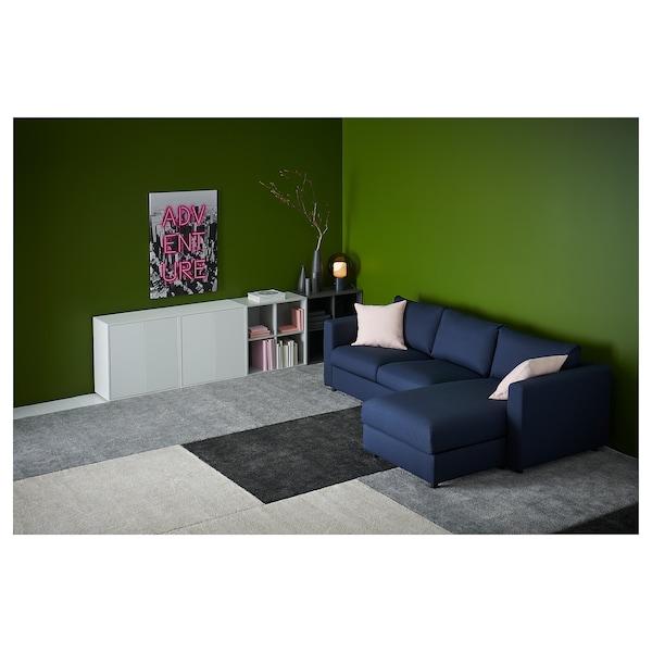 STOENSE Alfombra, pelo curto, gris escuro, 133x195 cm