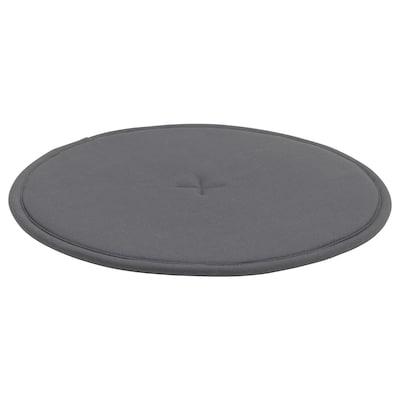 STRÅFLY Coxín para cadeira, gris escuro, 36 cm