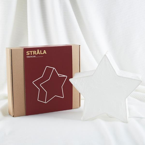 STRÅLA Adorno de mesa, forma de estrela/branco