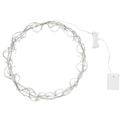 STRÅLA Lámpada teito LED, a pilas/forma de anel