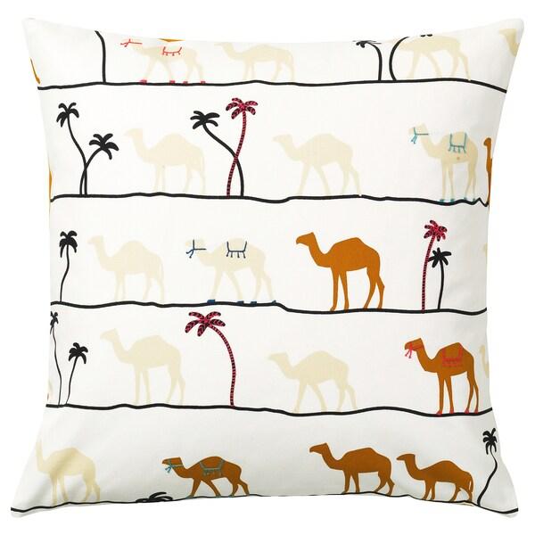 TILLTALANDE Funda de coxín, motivo camelo/marrón, 50x50 cm