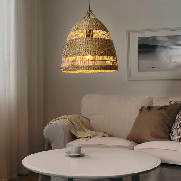 TORARED Pantalla para lámpada de teito, xunco/á man, 36 cm