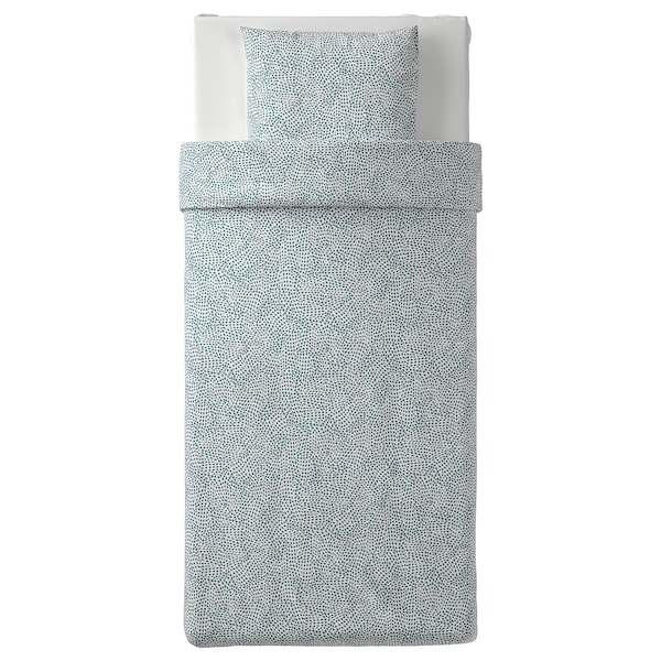 TRÄDKRASSULA, branco/azul, 150x200/50x60 cm