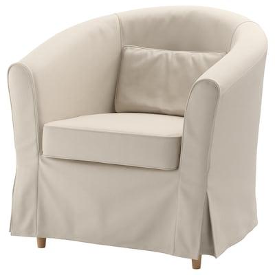 TULLSTA Cadeira de brazos, Lofallet beixe