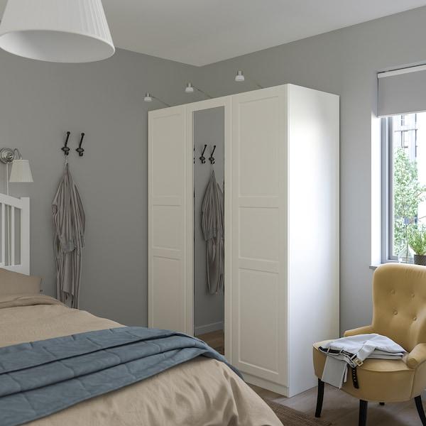 TYSSEDAL Porta con bisagras, branco/espello, 50x195 cm