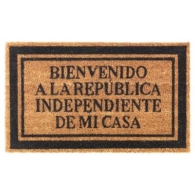 URLEV Felpudo, negro, 45x75 cm