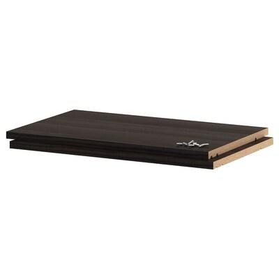 UTRUSTA Andel, efecto madeira negro, 60x37 cm