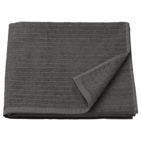 VÅGSJÖN Toalla de baño, gris escuro, 70x140 cm