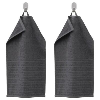 VÅGSJÖN Toalla de man visitas, gris escuro, 30x50 cm