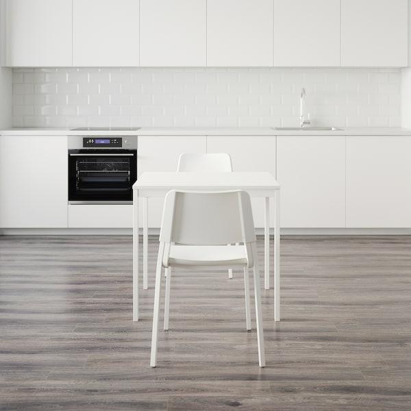 VANGSTA / TEODORES Mesa e dúas cadeiras, branco/branco, 80/120 cm