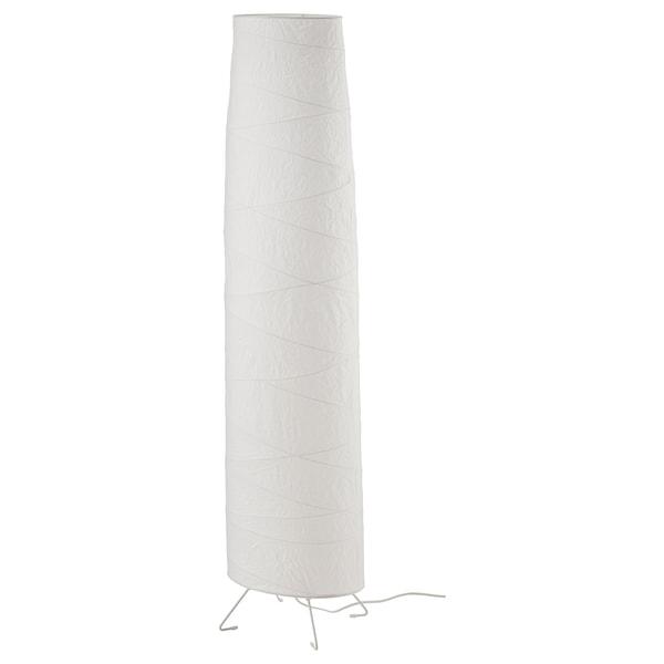 VICKLEBY Lámpada de pé, branco/á man, 136 cm
