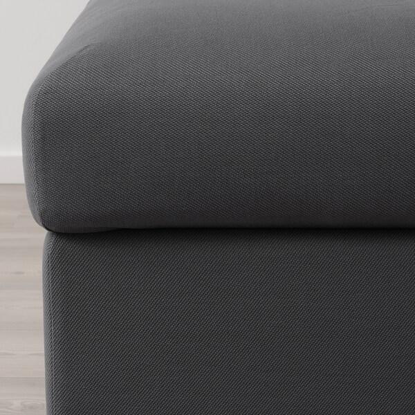 VIMLE Repousapés con almacenaxe, Hallarp gris