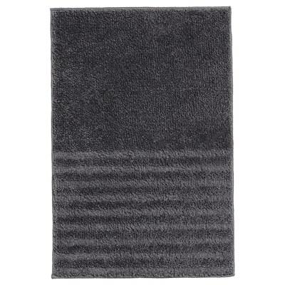 VINNFAR Alfombra de baño, gris escuro, 40x60 cm