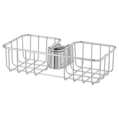 VOXNAN Estante para ducha, cromado, 25x6 cm