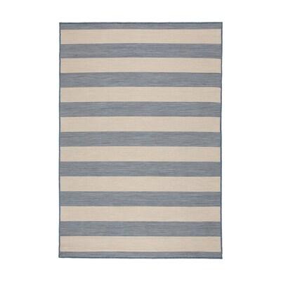 VRENSTED Alfombra int/exterior, beixe/azul claro, 133x195 cm