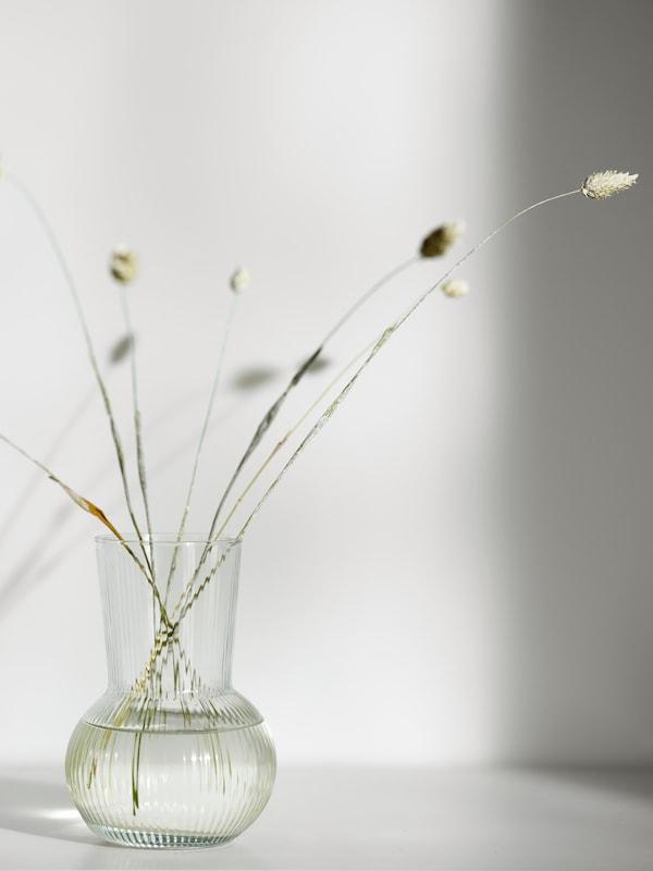 PÅDRAG clear glass vase.