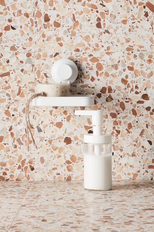 Dispenser per sapone, bianco