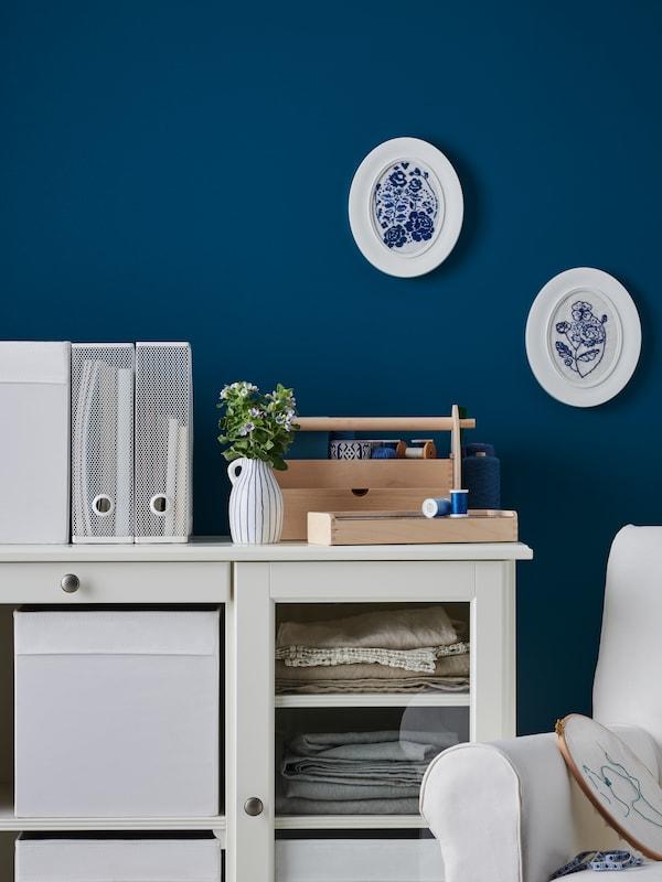 Credenza cm 145x87 bianca con contenitori e accessori - IKEA