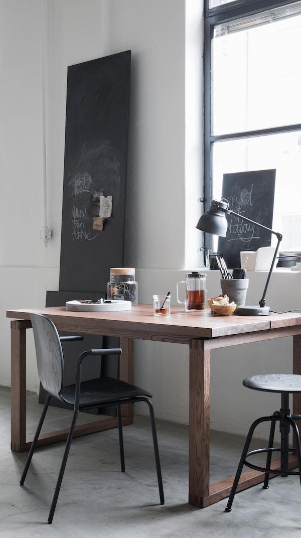 Mörbylånga dining table used as a work desk.