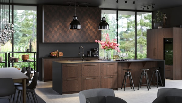 METOD kitchen with BODBYN doors