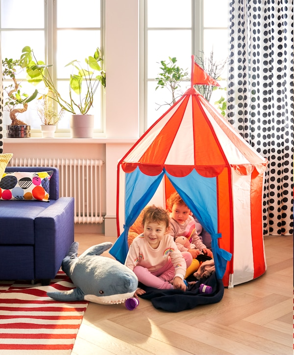 A tent for children to play games