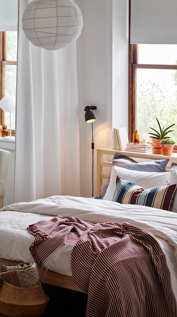 TARVA bed frame, pine.