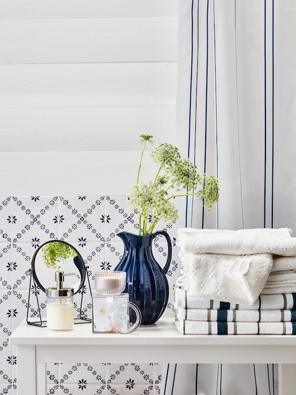 NÄRSEN highly absorbent bath towel white.
