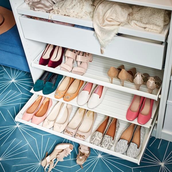 Ensemble de rangement chaussures et tiroirs