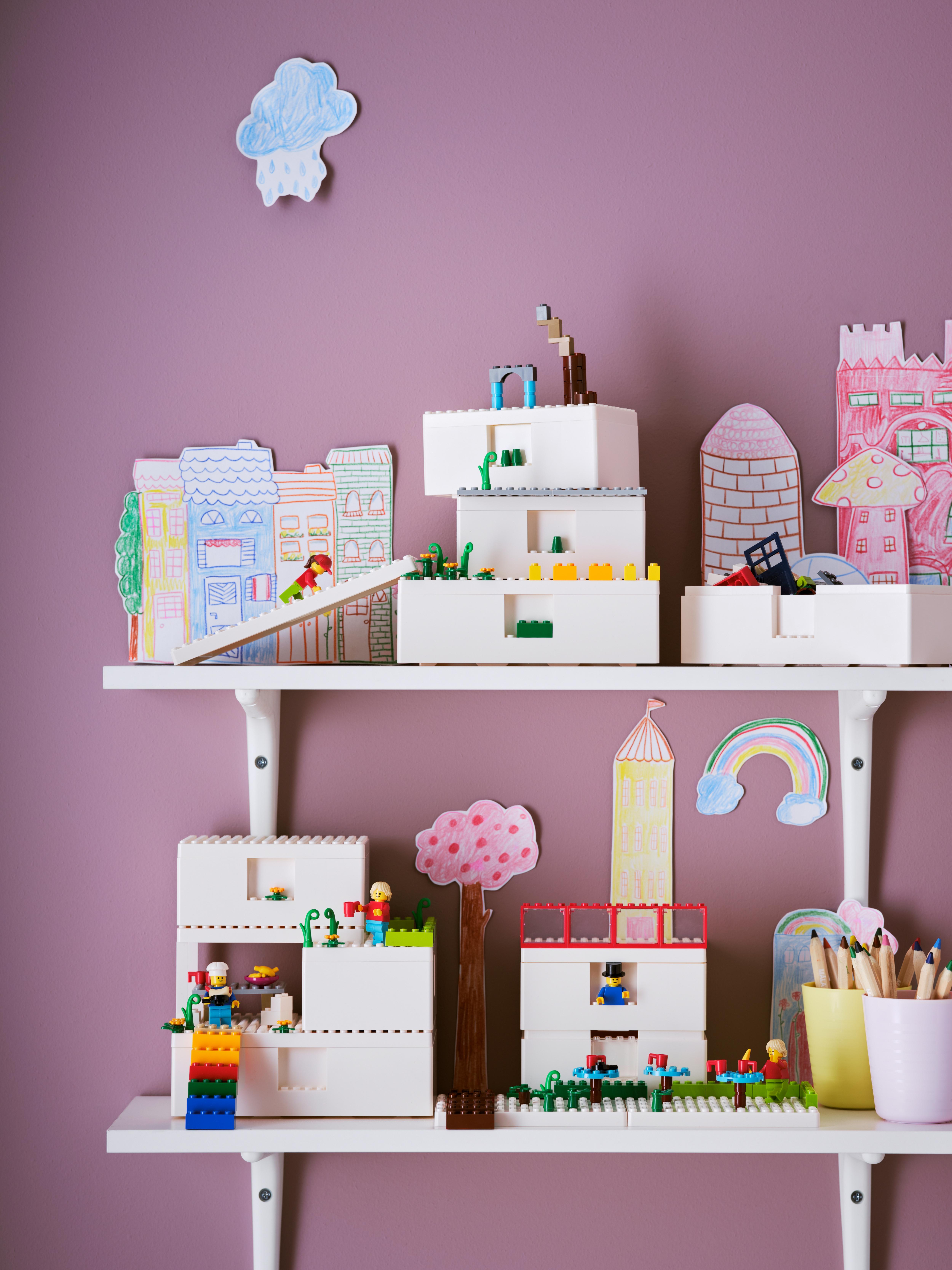 Kombinacija za uređenje doma, BYGGLEK LEGO® kutija s poklopcem