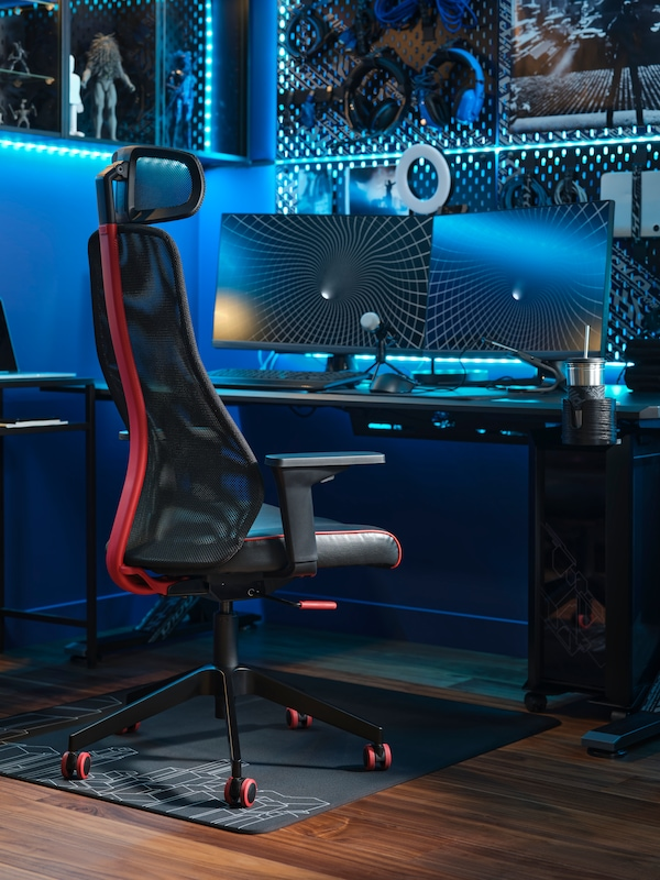 the UPPSPEL height-adjustable gaming desk.
