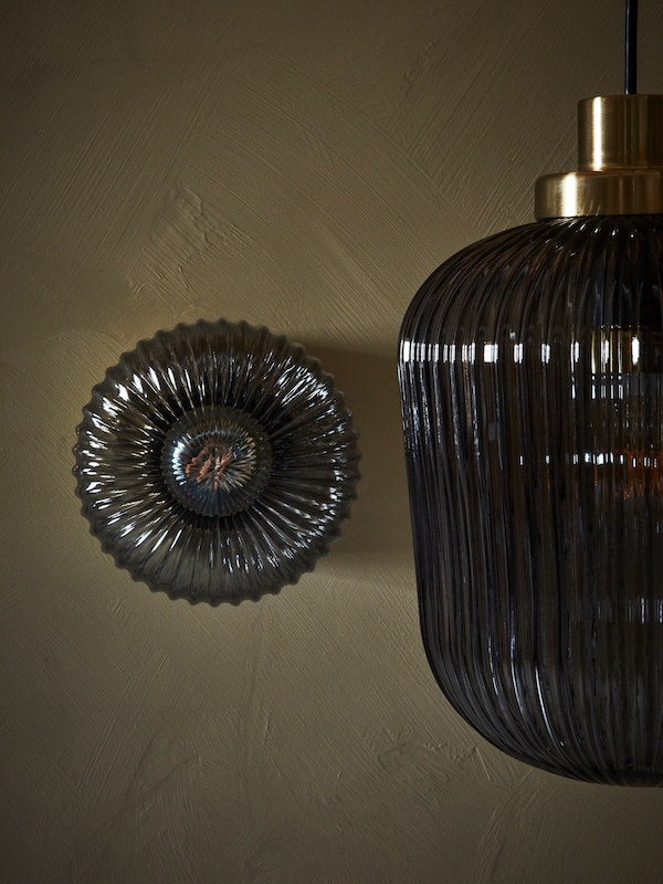 SOLKLINT wall and pendant lamps.