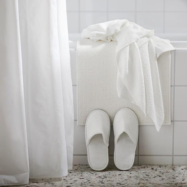 BJÄRSEN Shower curtain, white