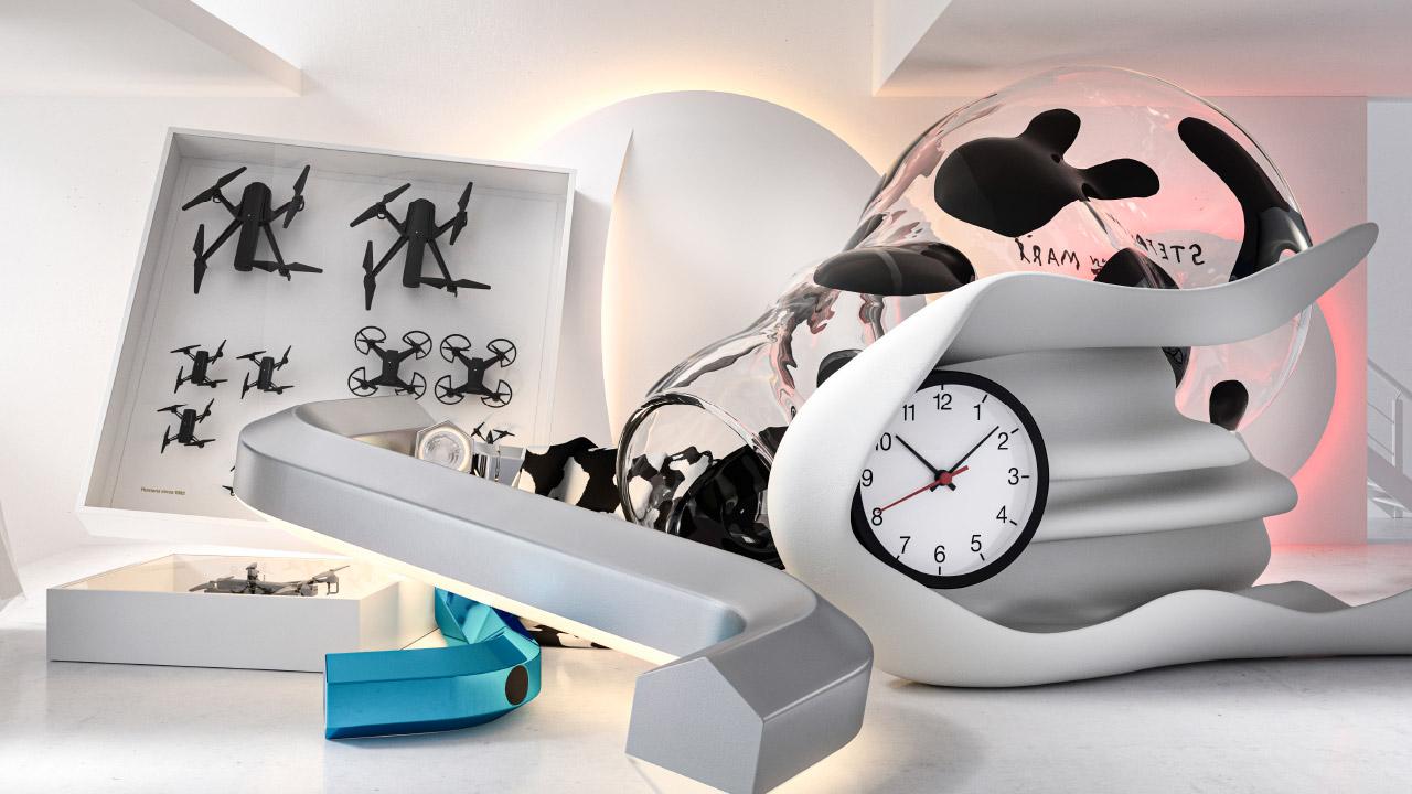 Výrobky z kolekcie IKEA ART EVENT 2021 naaranžované v minimalistickom štýle.