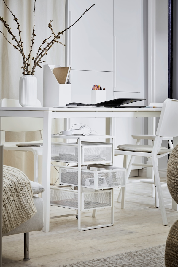 LENNART Drawer unit white, easy to move where it is needed thanks to castors.