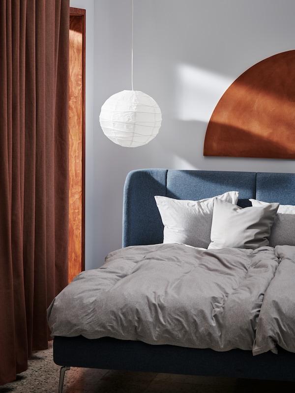 MAJBRÄKEN Cushion cover, gray