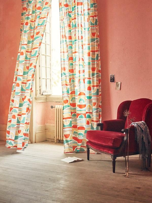 rideaux multicolore