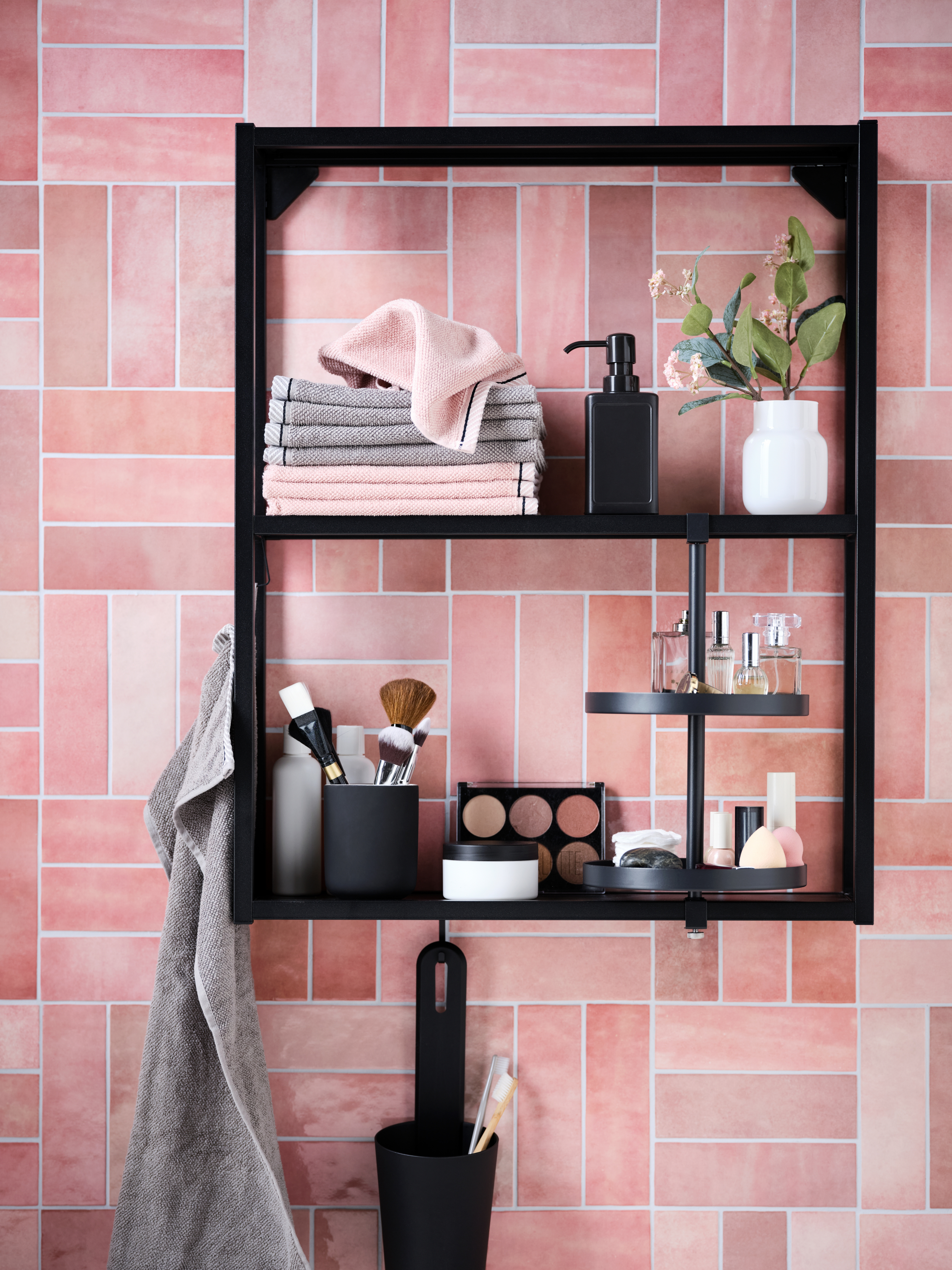 Ein Drehregal für stilvolle Ordnung im Badezimmer   IKEA